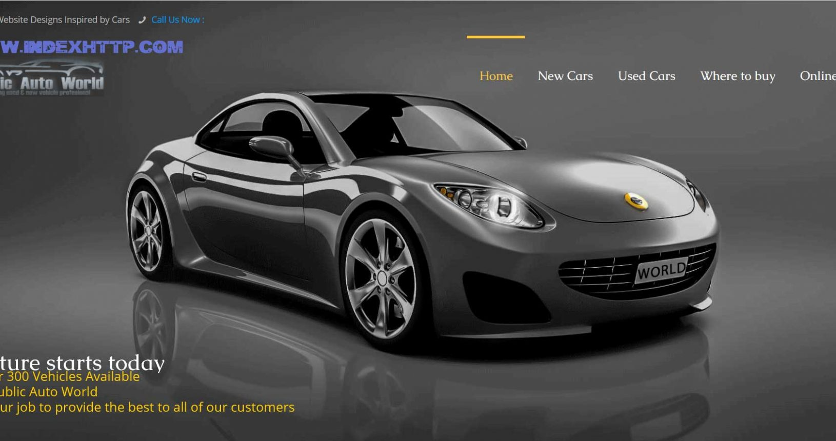 Great Automotive Website design for you www.Indexhttp.com